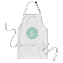 Mint Custom Monogram Adult Apron
