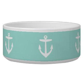Mint Cute Anchor Pattern Bowl