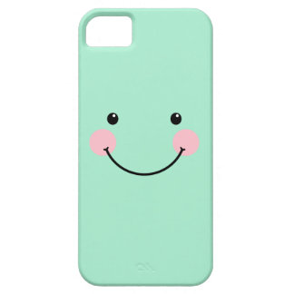 Mint Cute Smiling Face iPhone 5 Case