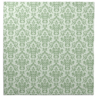 Mint Damask Pattern Napkin