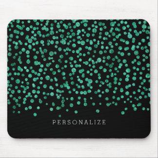 Mint Dazzle Confetti Mouse Pad