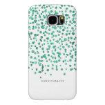 Mint Dazzle Confetti Samsung Galaxy S6 Cases