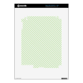 Mint Diagonal Lines Decals For The iPad 2