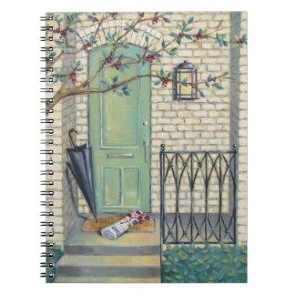 Mint Door & Newspaper Notebook