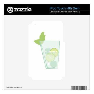 Mint Drink iPod Touch 4G Decals