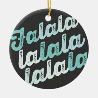 Mint Falalalala Christmas Holiday Photo Ornament