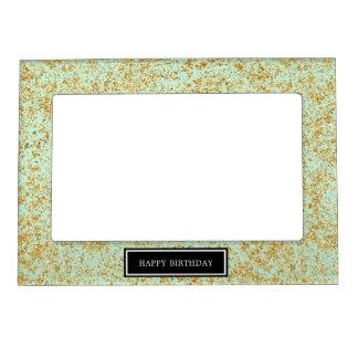 Mint & Faux Gold Glitter Dust Magnetic Frame