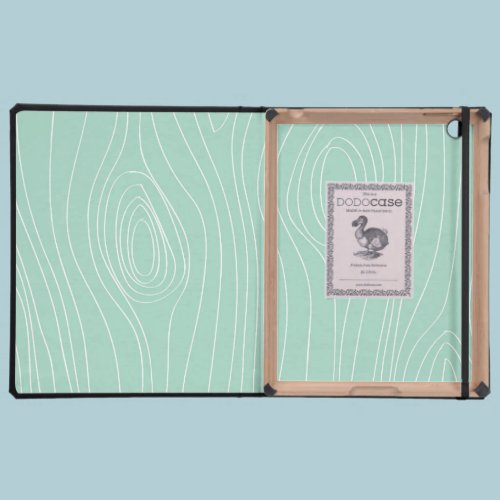 Mint Faux Wood Covers For iPad