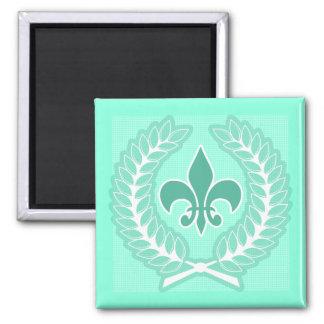 Mint Fleur-De-Lis Magnet