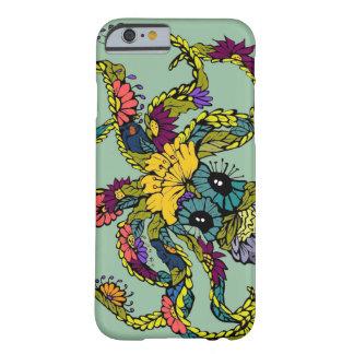 Mint Floral Octopus iPhone 6 case