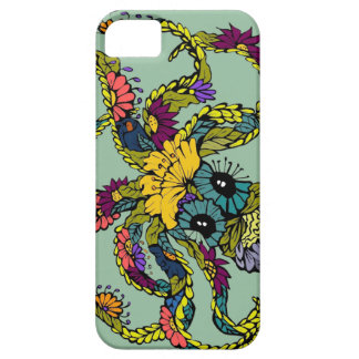 Mint Floral Octopus Iphone Case iPhone 5 Cover