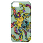 Mint Floral Octopus Iphone Case Case For iPhone 5C