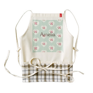 mint,floral,red,shabby chic,victorian,vintage,rose zazzle HEART apron