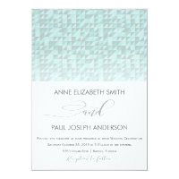 Mint geometric pattern Wedding Invitation
