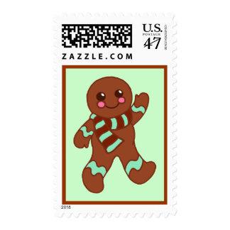Mint Gingerbread Postage Stamp