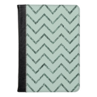 Mint Glam Chevron Stripes Kindle Case
