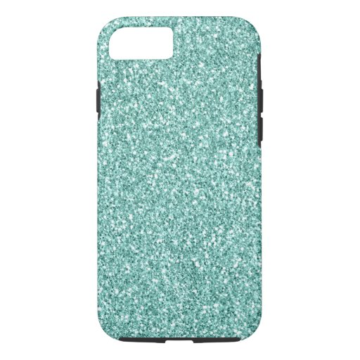 Mint Glitter iPhone 8/7 Case