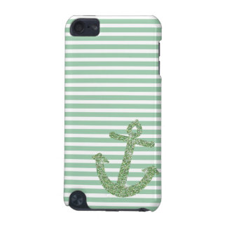 Mint Glitter Nautical Anchor iPod Touch (5th Generation) Cover
