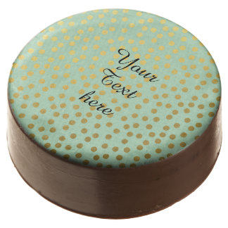 Mint Gold Confetti Dots Chocolate Dipped Oreo