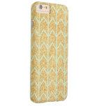 Mint Gold Glitter Unique Zigzag Chevron Pattern Barely There iPhone 6 Plus Case