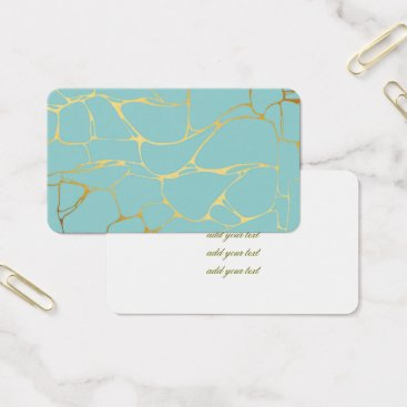Wedding Themed mint,gold,marbled,modern,trendy,chic,beautiful,ele business card