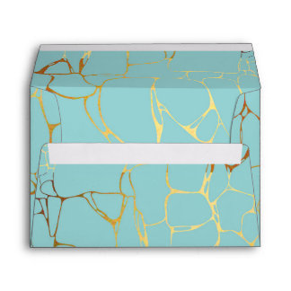 mint,gold,marbled,modern,trendy,chic,beautiful,ele envelope