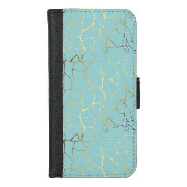 Wedding Themed mint,gold,marbled,modern,trendy,chic,beautiful,ele iPhone 8/7 wallet case