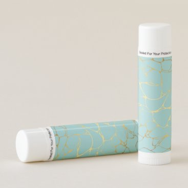 Wedding Themed mint,gold,marbled,modern,trendy,chic,beautiful,ele lip balm