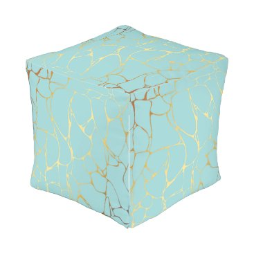 Wedding Themed mint,gold,marbled,modern,trendy,chic,beautiful,ele outdoor pouf