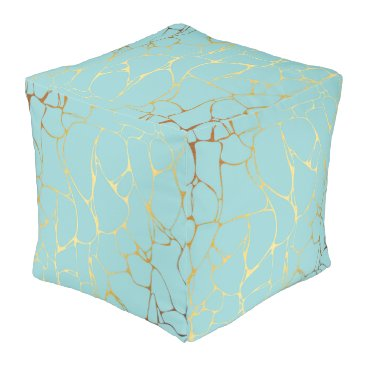 Wedding Themed mint,gold,marbled,modern,trendy,chic,beautiful,ele pouf