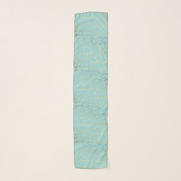 Wedding Themed mint,gold,marbled,modern,trendy,chic,beautiful,ele scarf
