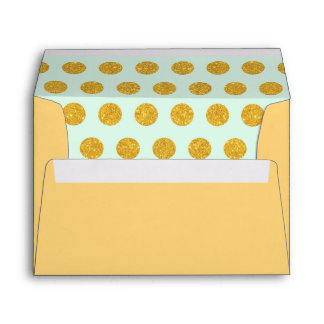 mint,gold,polka dot,trendy,girly,pattern,modern, envelopes