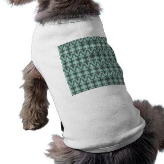 Mint Gray Geometric Ikat Tribal Decorative Pattern T-Shirt