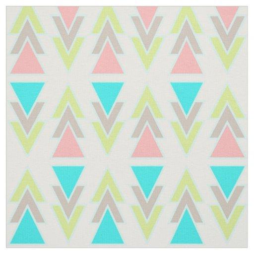 Mint Gray Pink White Teal Aqua Geometric Pattern Fabric ...