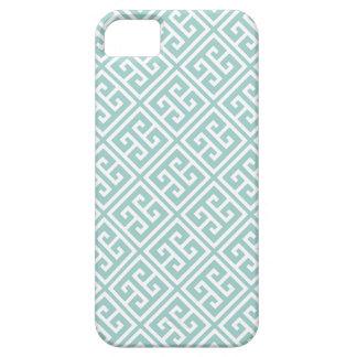 Mint Greek Key Pattern iPhone 5 Cover