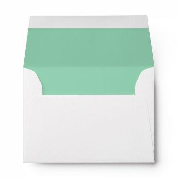 Professional Business Mint Green A6 Felt Envelope
