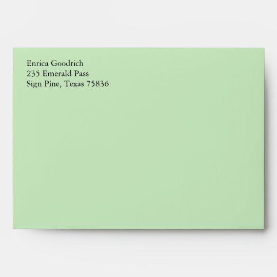 mint green a7 5x7 envelopes with return address zazzle com