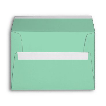 Professional Business Mint Green A7 Felt Envelope