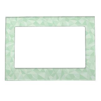Mint Green Abstrac Mosaic Geometric Pattern Magnetic Photo Frame