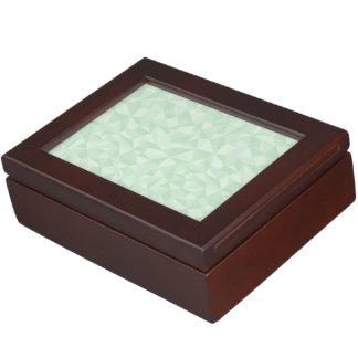Mint Green Abstrac Mosaic Geometric Pattern Memory Box