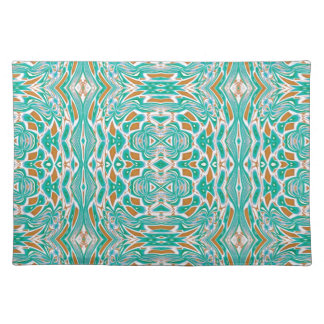Mint Green Abstract Geometric Design Cloth Placemat