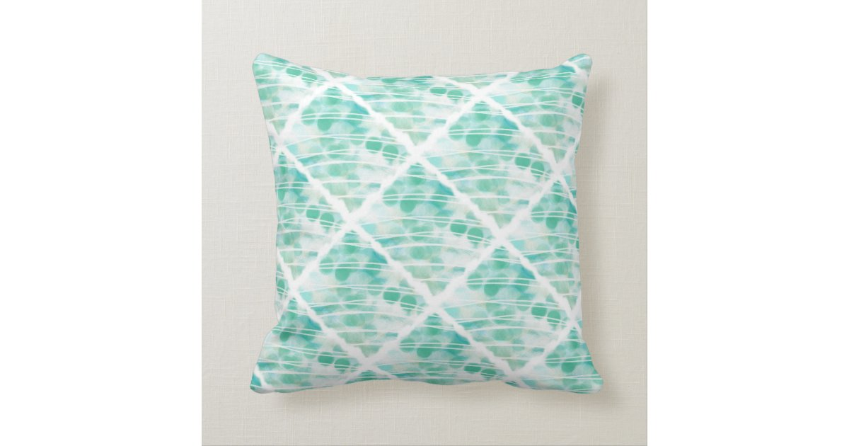 Throw Pillows In Mint Green : Mint Green Abstract Throw Pillow Zazzle