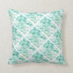 Mint Green Abstract Throw Pillow