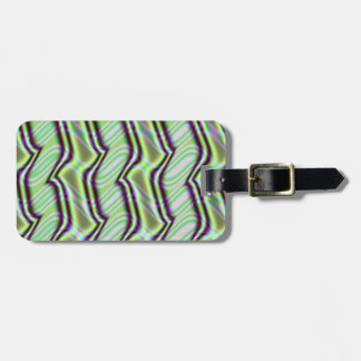Mint Green Alley Fractal Luggage Tag