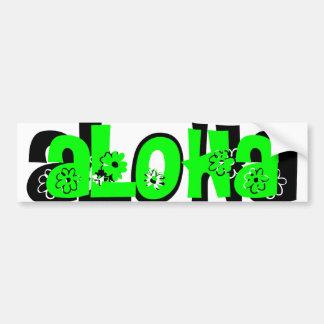 mint green aloha bumper sticker