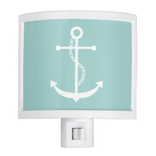 Mint Green Anchor Night Light