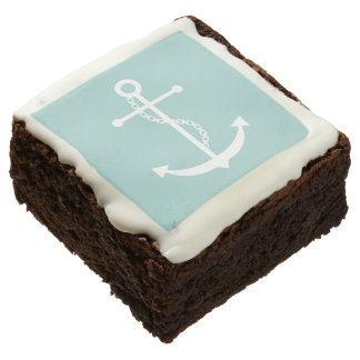 Mint Green Anchor Square Brownie