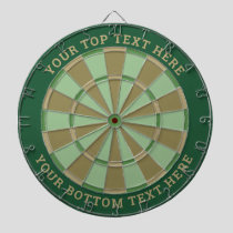 Mint Green and Brown Dartboard with Custom Text