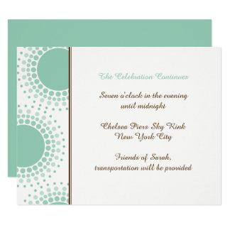 Mint Green and Brown Modern Bat Mitzvah Insert Card