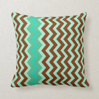 Mint Green And Brown Throw Pillows : Brown And Green Chevron Pillows - Decorative & Throw Pillows Zazzle